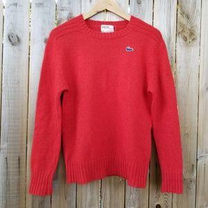 Izod Lacoste Vintage Red Wool Sweater